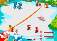 Game-throw-snowball-with-santa