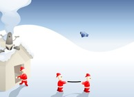 Gifts-transport-game-with-santa