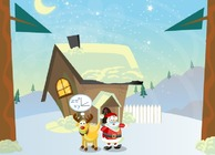 Start-game-with-rudolf-and-santa-claus